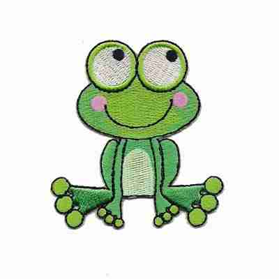 Frog - Cute Bulgey Eyed Frog Iron on Patch Applique