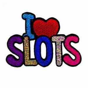 """I (Love) Slots"" Iron On Gambling Patch Applique"