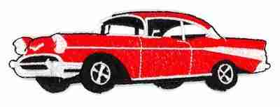 Cars - Red 57 Chevy Iron On Applique