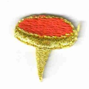 Red Tack Pin Iron or sew on applique