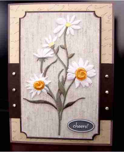 Examples of uses for Double Daisies Iron On Floral Patch Applique