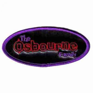 The Osbourne Family Oval Iron On Patch Applique