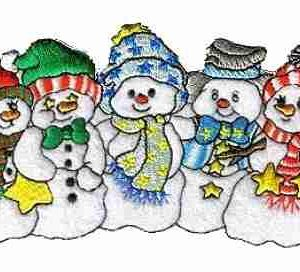 Christmas Holiday 5 Snowbuddies Iron On Patch Applique
