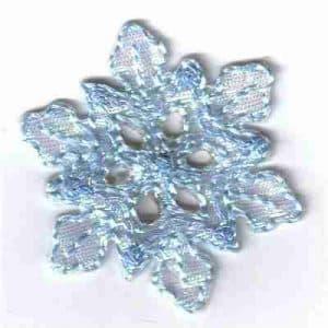 Christmas Blue Snowflake Iron On Applique