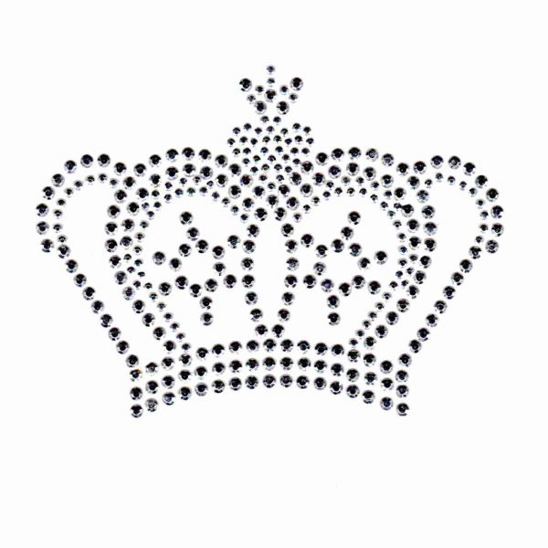silver crown hotfix design on white