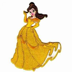 Disney's Princess Belle Iron On Applique