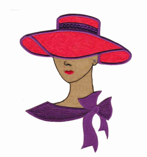 Tan Red Hat Lady with Sequins
