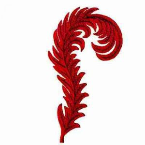 Red Hat Feather Iron On Applique