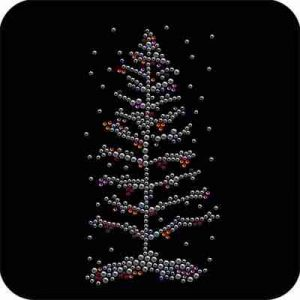 Christmas - Winterland Christmas Tree Iron On Rhinestone Appliqu