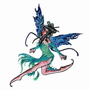 Amy Brown's 'Water Element' Fairy Iron-on Applique