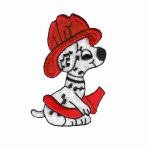 Dalmatian Fire Dept. Puppy Iron On Patch Applique