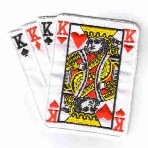 Four Kings Iron On Gambling Patch Applique
