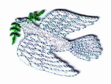 Dove of Peace Iron On Religious Patch Applique