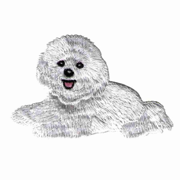 Dogs - Bichon Frise Iron On Dog Patch Applique