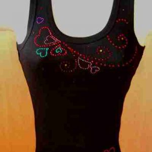Sample 7 - String of Hearts Tank Top - NOT FOR SALE