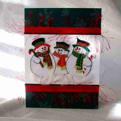 Sample 16 - Snowmen Greeting Card - NOT FOR SALE