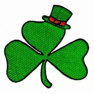 St Patrick's Day - Three Leaf Clover Iron On Shamrock Patch Appl