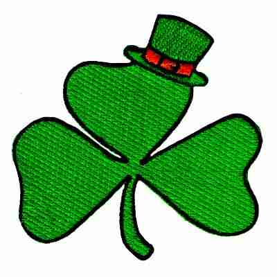 St Patricks Day Three Leaf Clover Iron On Patch Applique