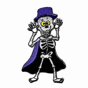Happy Halloween Skeleton Iron On Patch Applique