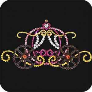 Cinderella's Pumpkin Carriage Iron On Sequined Applique