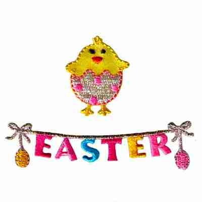 Easter Chain Iron On Patch Applique/ Chick Sold Separately