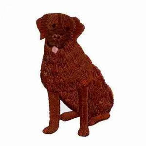 Dogs - Chocolate Lab Iron On Dog Patch Applique