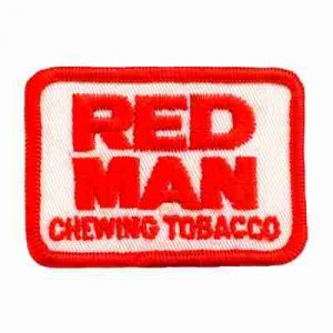 Smoking - Red Man Chewing Tobacco Iron On Patch Applique