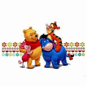 Large Disney Winnie the Pooh with Friends Iron on Transfer