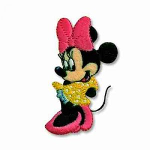 Coy Minnie Mouse Iron On Disney Patch Applique