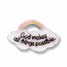 God Makes All Things Possible Religious Iron on Applique