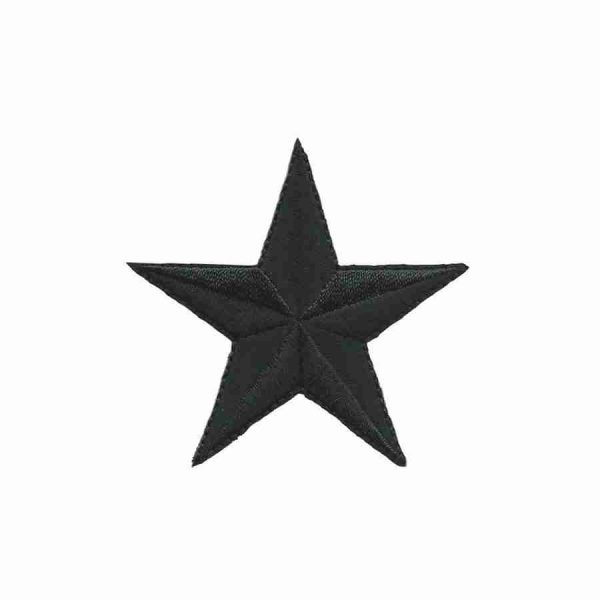 2 Inch black Star patches