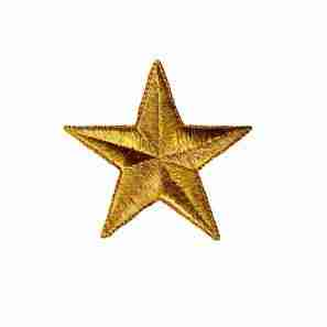 3-Inch Metallic GOLD Star Iron On Applique