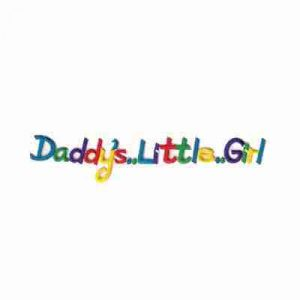 """Daddy's Little Girl"" Iron On Patch Applique"