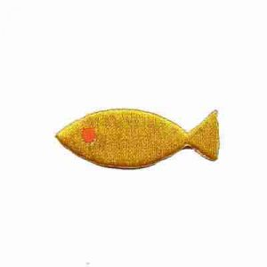 Embroidered YELLOW Plain Fish Iron On Sealife Patch Applique