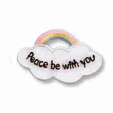 Peace Be With You Religious Iron on Patch Applique