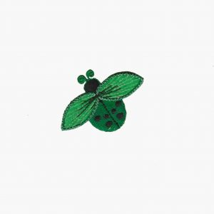 Ladybugs - Small Ladybug in GREEN Iron On Appliques