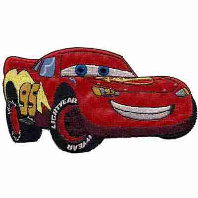 Lightning McQueen Patch SEW ON APPLIQUE