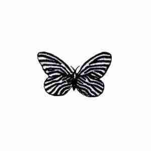 Butterflies - Zebra Butterfly -SMALL- Iron On Insect Patch Applique