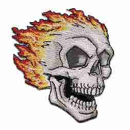 Flaming skull Iron On Patch Ghost Rider Patches
