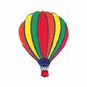 Hot air balloon patch iron on in Primary colors