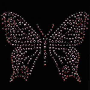 Butterflies - Medium Rhinestone/stud Butterfly in PINK Iron O