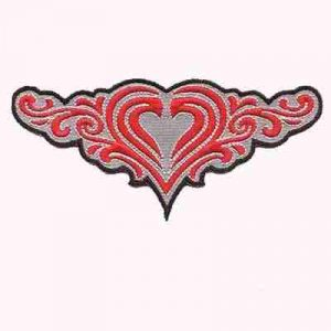 Heart Tribal Design Iron on Patch