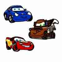 "Disney Pixar's ""Cars"" Multi-Pak Iron On Cartoon Patch Applique"