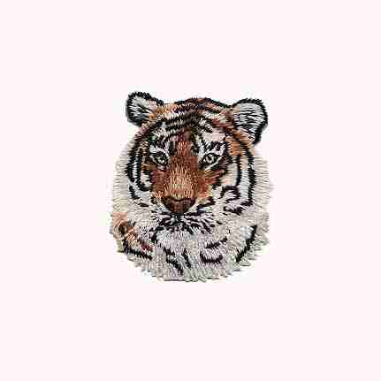 Tiger's Head Iron On Jungle Patch Applique