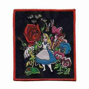 Alice in Wonderland in the Rose Garden Iron or Sew on Patch