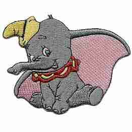 Disney's Dumbo the elephant Iron on Patch Applique
