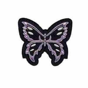 Butterflies - Black and Lavendar Tribal Butterfly Iron or Sew on