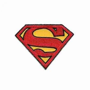 Superman Logo LARGE Iron on Patch - ONLY 2 LEFT!