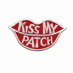 Kiss My Patch Iron on Patch Applique