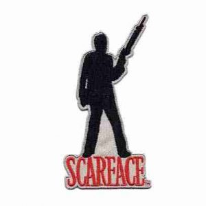 Scarface Sihouette Iron on Patch Applique